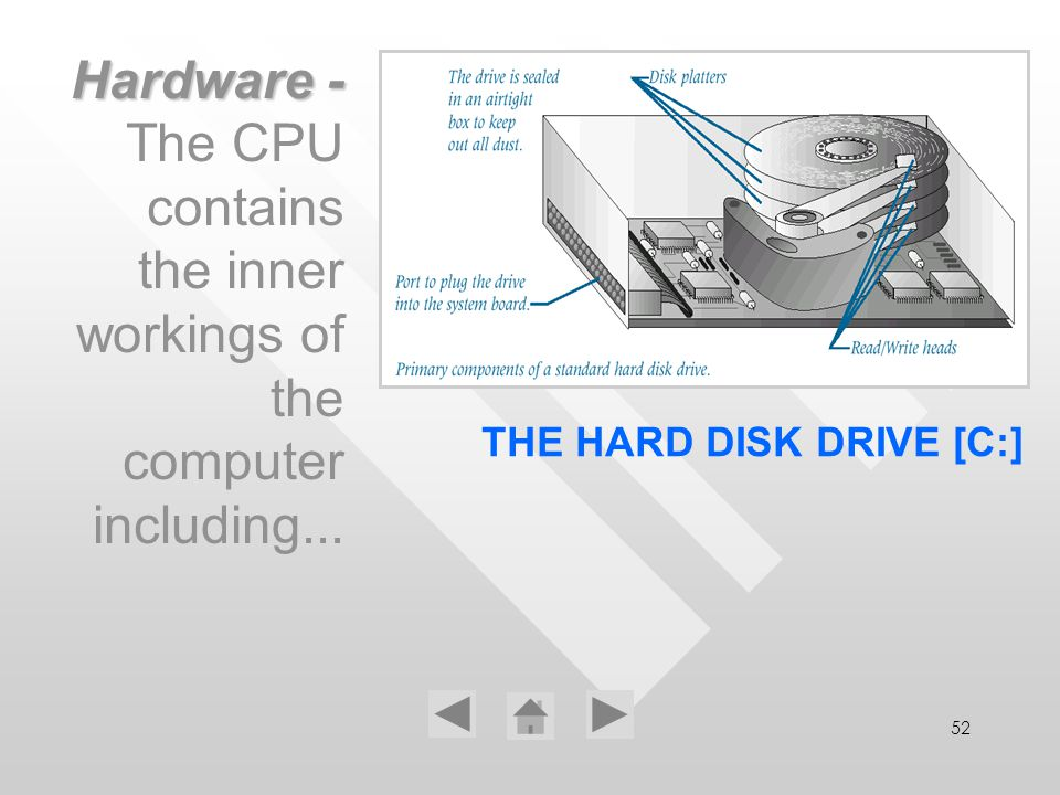 THE HARD DISK DRIVE [C:]